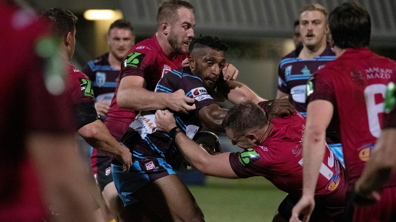 CQ Capras second rower Nixon Putt in the Round 4 clash with the Mackay Cutters. Photo: Brendan Kirkman