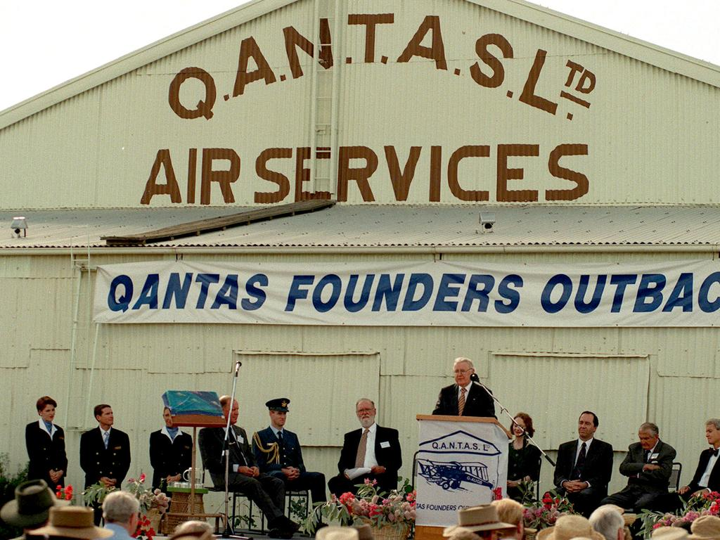 The opening of Qantas Founders Outback Museum at Longreach in June, 1996.