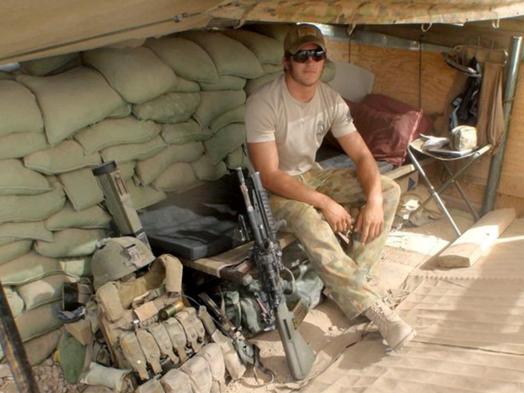 Paul Langer while in Afghanistan.
