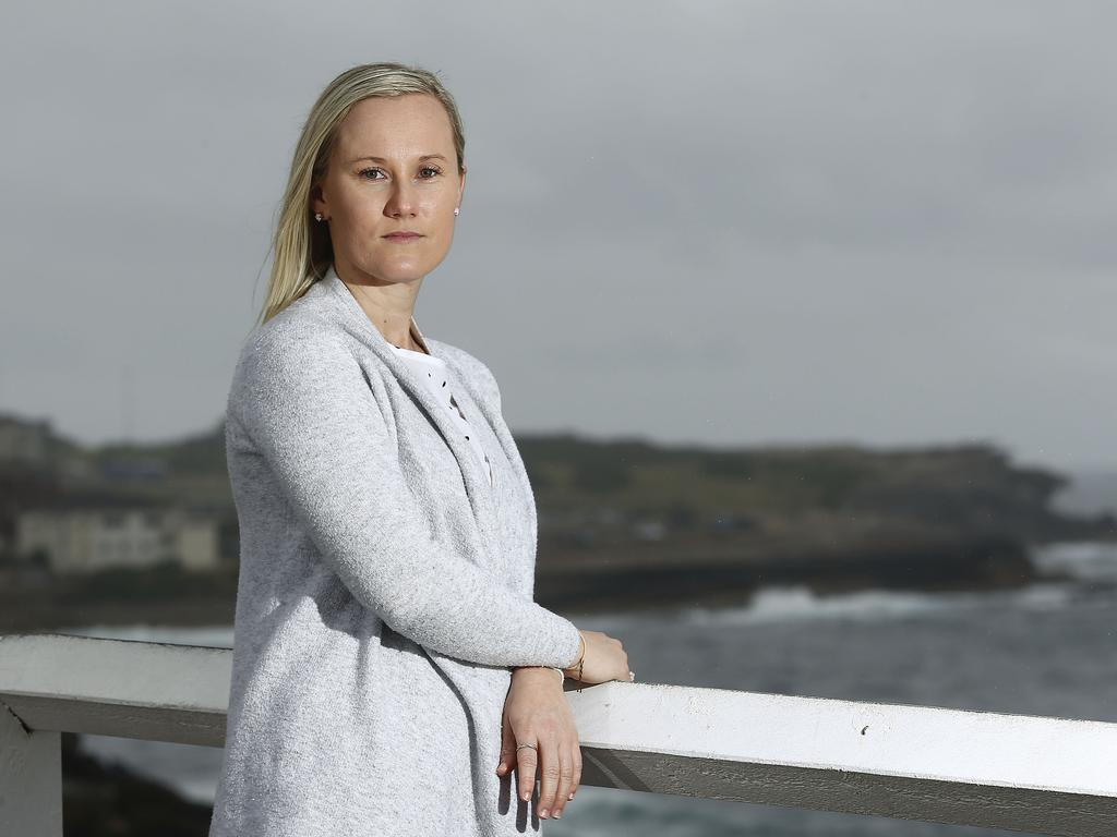 Dr Angela Jay was nearly killed by a serial stalker who she initially met on Tinder. She is now a White Ribbon day advocate. Picture: John Appleyard