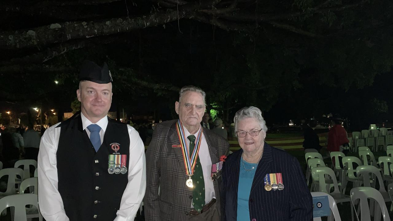 Mackay Anzac Day 2021 Dawn Service at Jubilee Park cenotaph. Picture: Tara Miko
