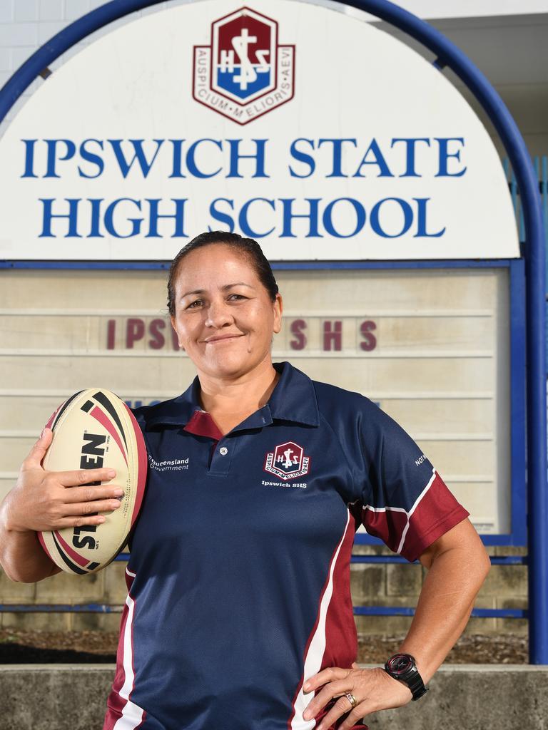 Ipswich State High's Girls Football Program Coordinator Veronica White.