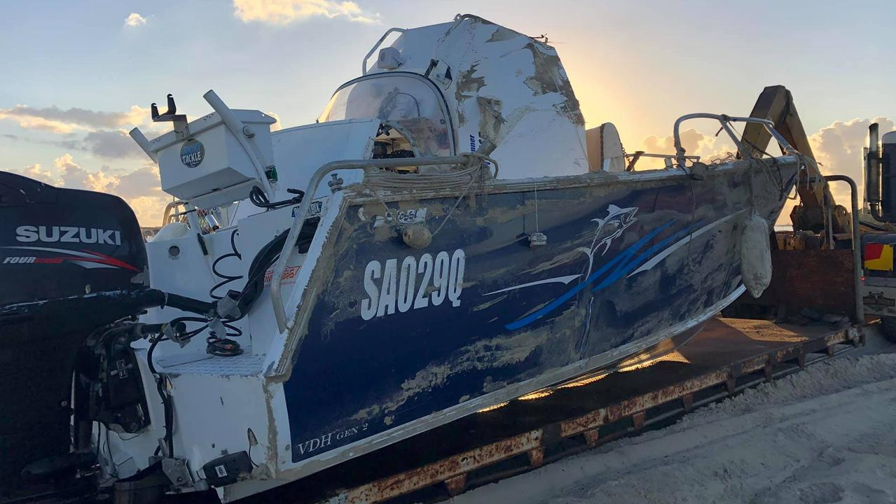Rainbow Recovery, Repairs and Services have recovered a boat that capsized in waters near Rainbow Beach.
