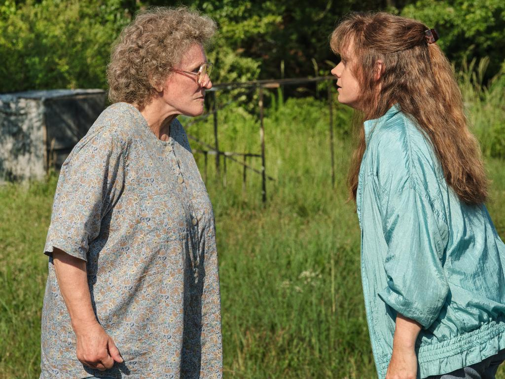 Could Glenn Close (with Amy Adams) finally win an Oscar on her eighth nomination. Picture: Netflix