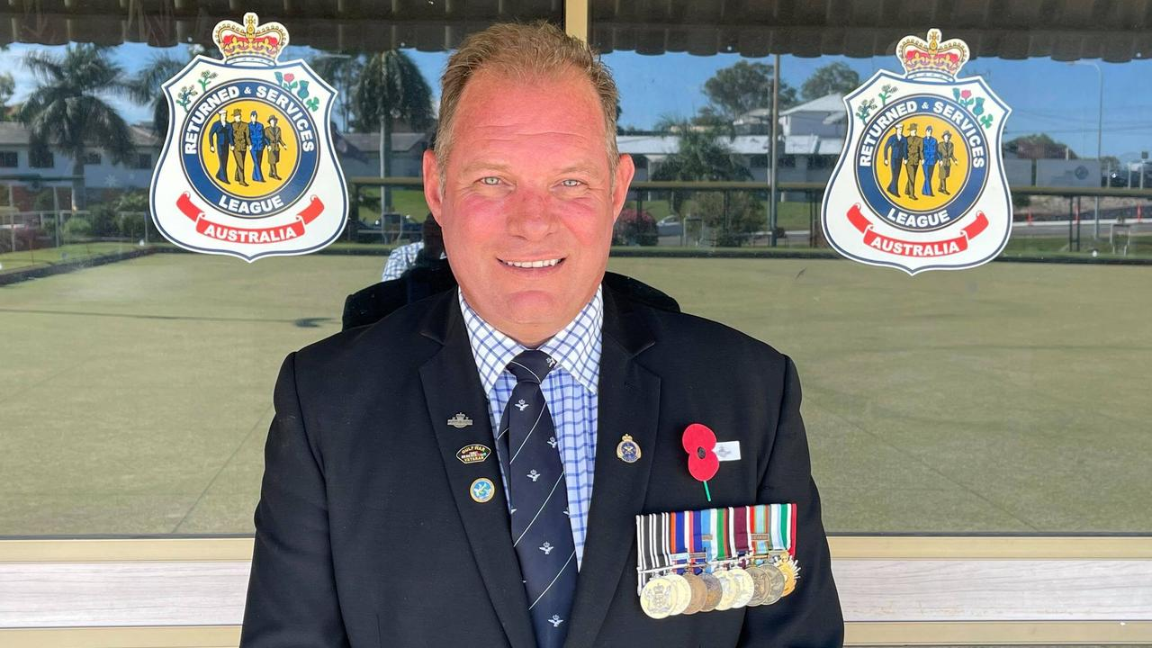 Vice President of Gladstone RSL and President of Young Veterans Central Queensland Jon Felton.