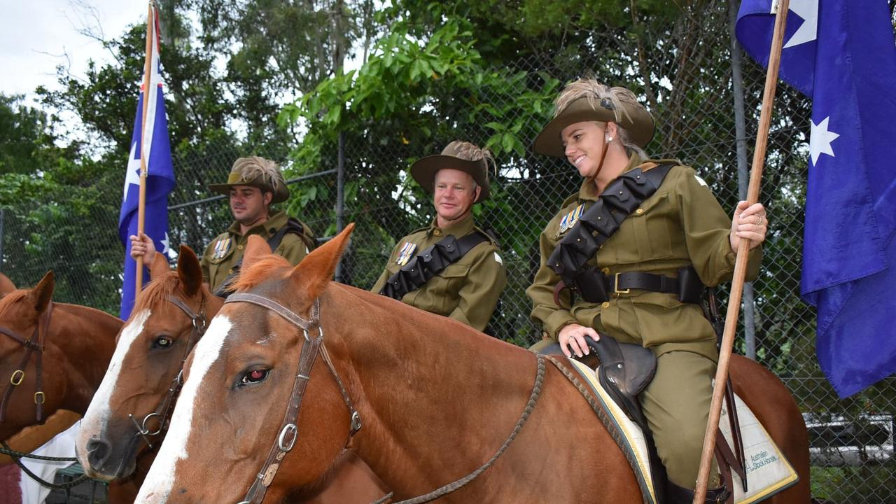 The Kuttabul Anzac Day Dawn Service in 2021 commemorates the Australian Light Horse troops. Picture: Lillian Watkins