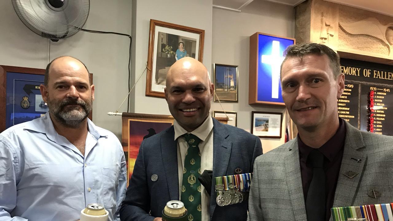 Bowen's 2021 ANZAC Day commemorations. Picture: Rhonda Nilsson