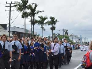 Mackay services march in Anzac Day 2021 parade