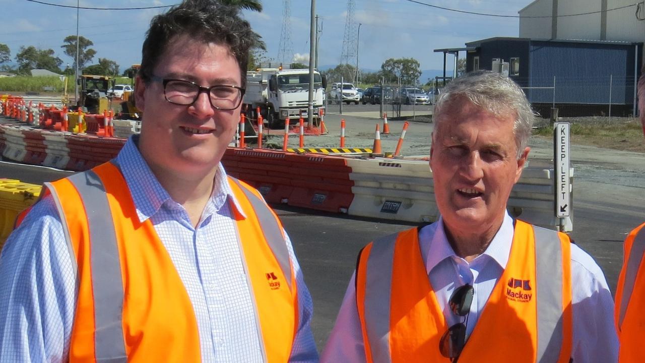 Dawson MP George Christensen with Mackay Mayor Greg Williamson.
