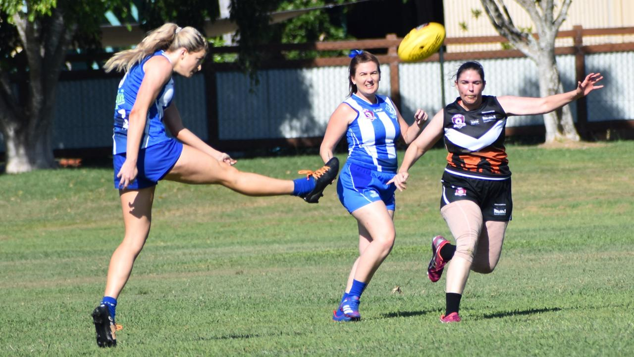 The Brothers women kicked their 2021 AFL Capricornia season off with a win over Rockhampton Panthers in the traditional Anzac Day game on Sunday. Photo: Pam McKay