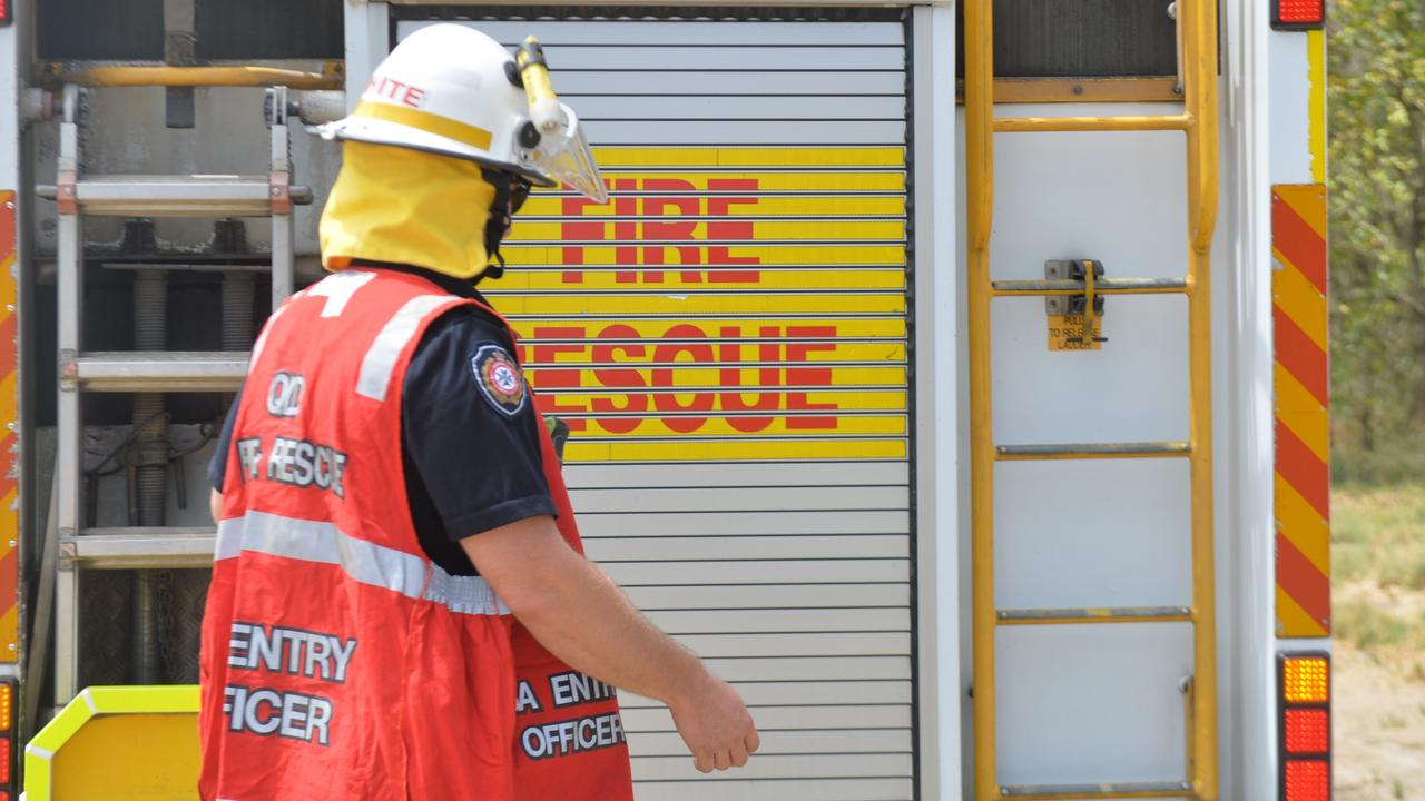 Queensland Fire and Emergency Services attended the scene. Picture: Zizi Averill