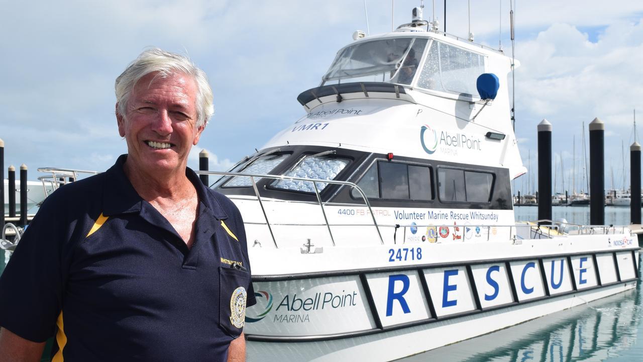 Volunteer Marine Rescue Whitsunday president Mal Priday.