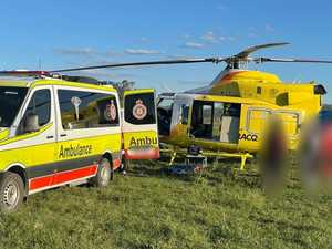 Motorcyclist airlifted after 'high speed' crash on Anzac Day