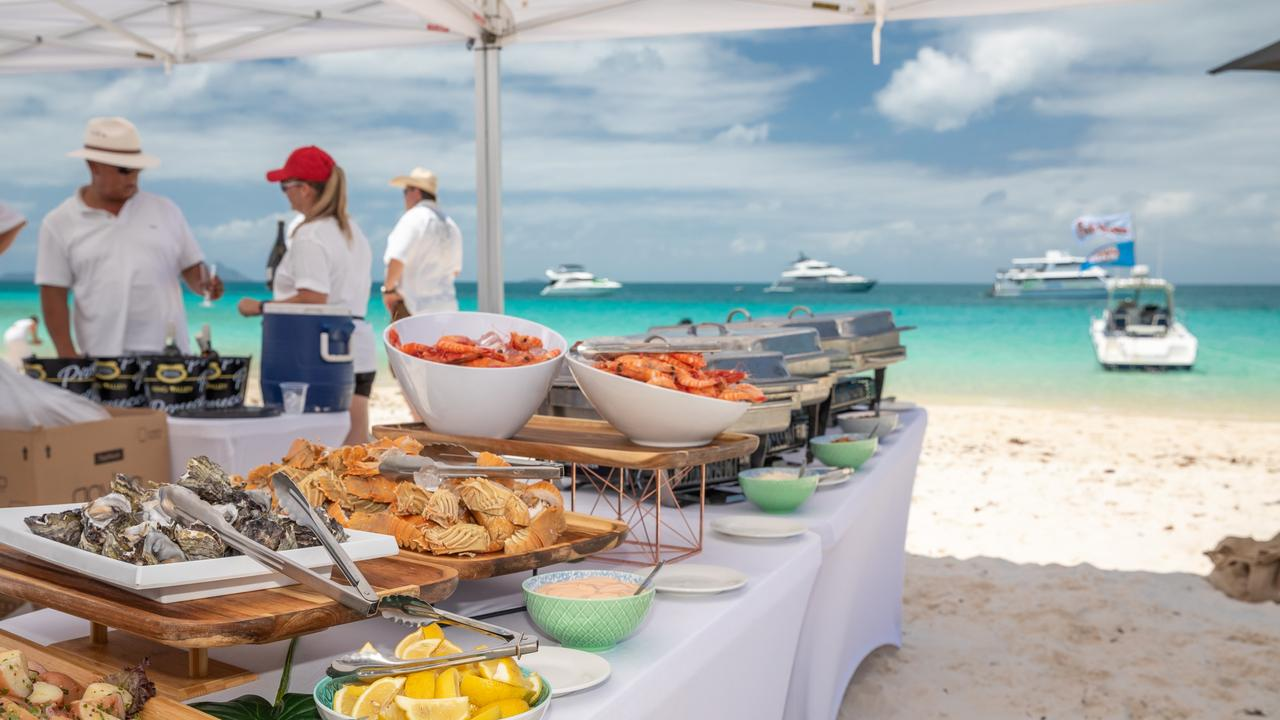 The long lunch will feature a seafood feast served on the beach.