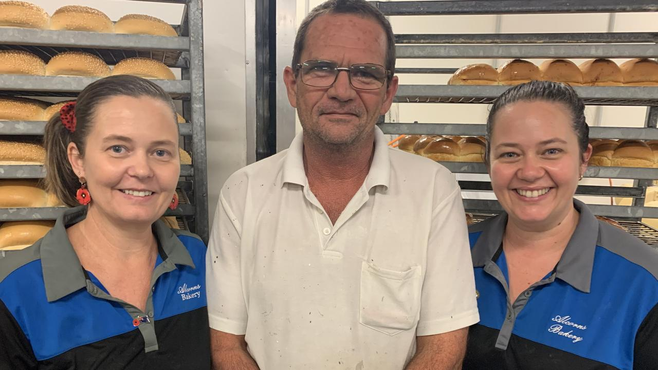 Kylie Edwards, Ron Dawson and Amanda Kennedy are the siblings behind Alcorn Bakery's success. Picture: Lillian Watkins