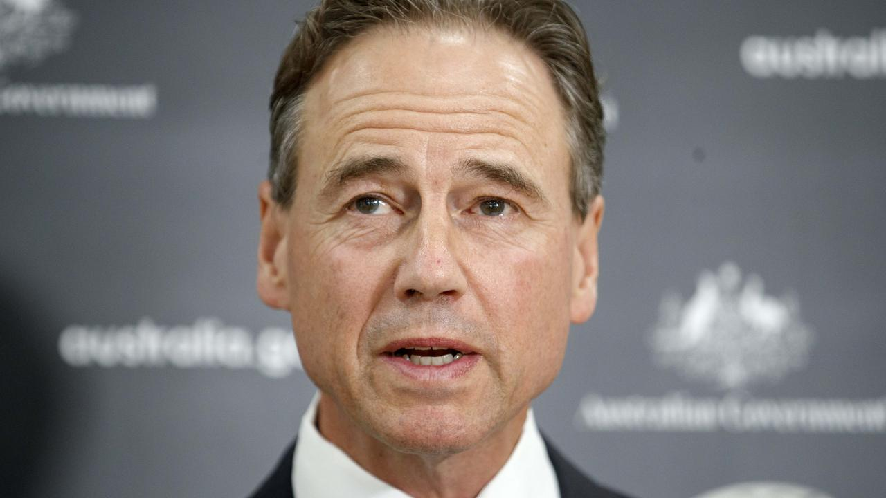 Health Minister Greg Hunt said reasons for leaving Australia needed to be 'profound'. Picture: David Geraghty/NCA NewsWire