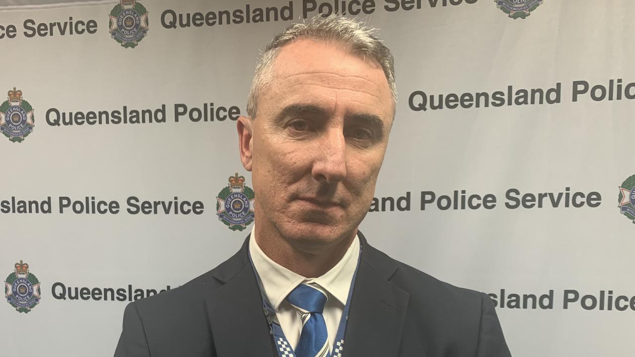 Mackay Detective Inspector Tom Armitt addressing the 2019-20 Queensland crime report. Picture: Lillian Watkins