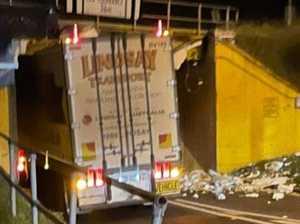 Six-hour marathon to remove truck stuck under bridge