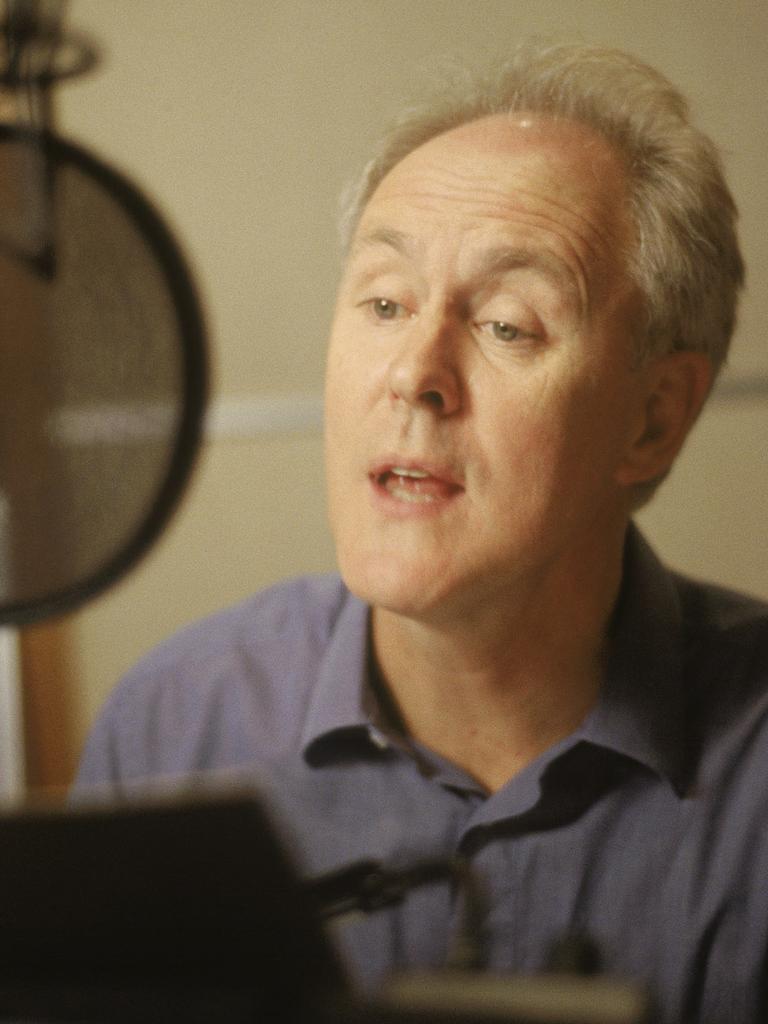 John Lithgow voicing for Shrek.
