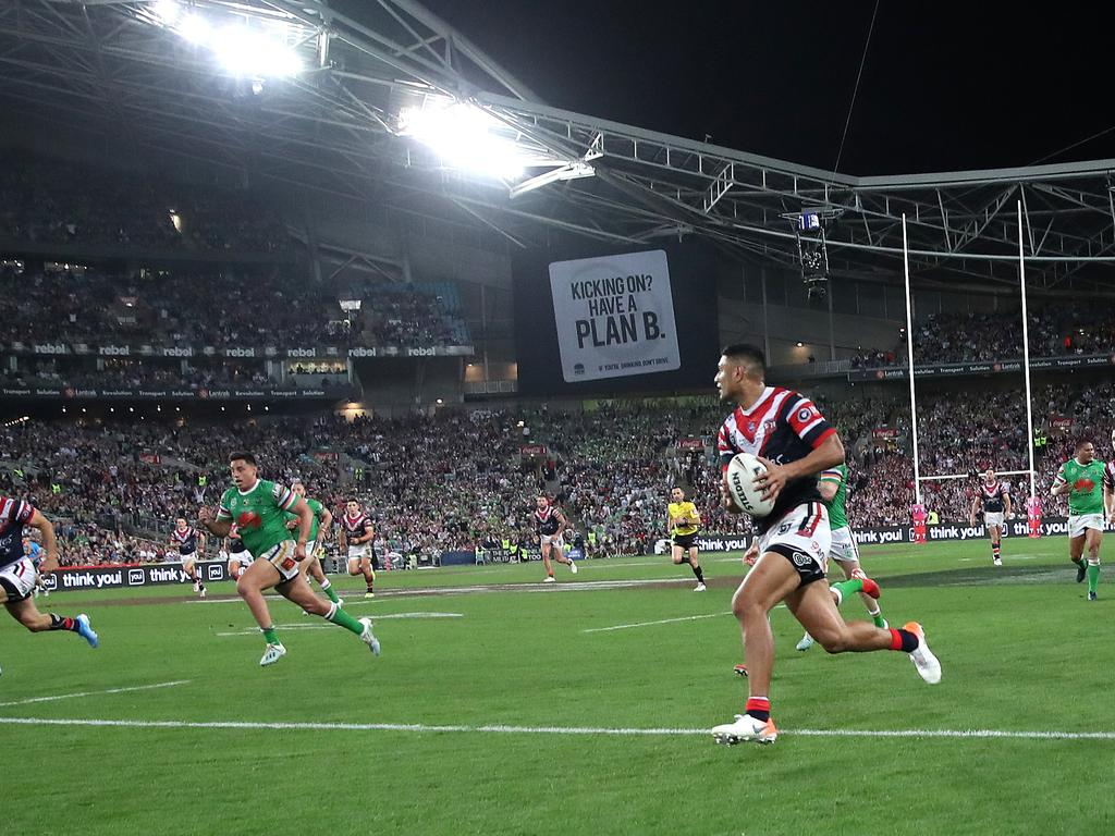The atmosphere of the 2019 NRL grand final.