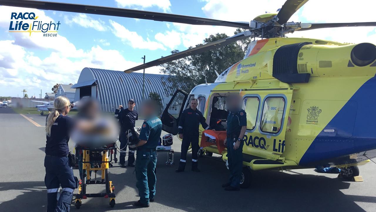 A teen was been flown to the Queensland Children's Hospital after an incident at Bulcock Beach.