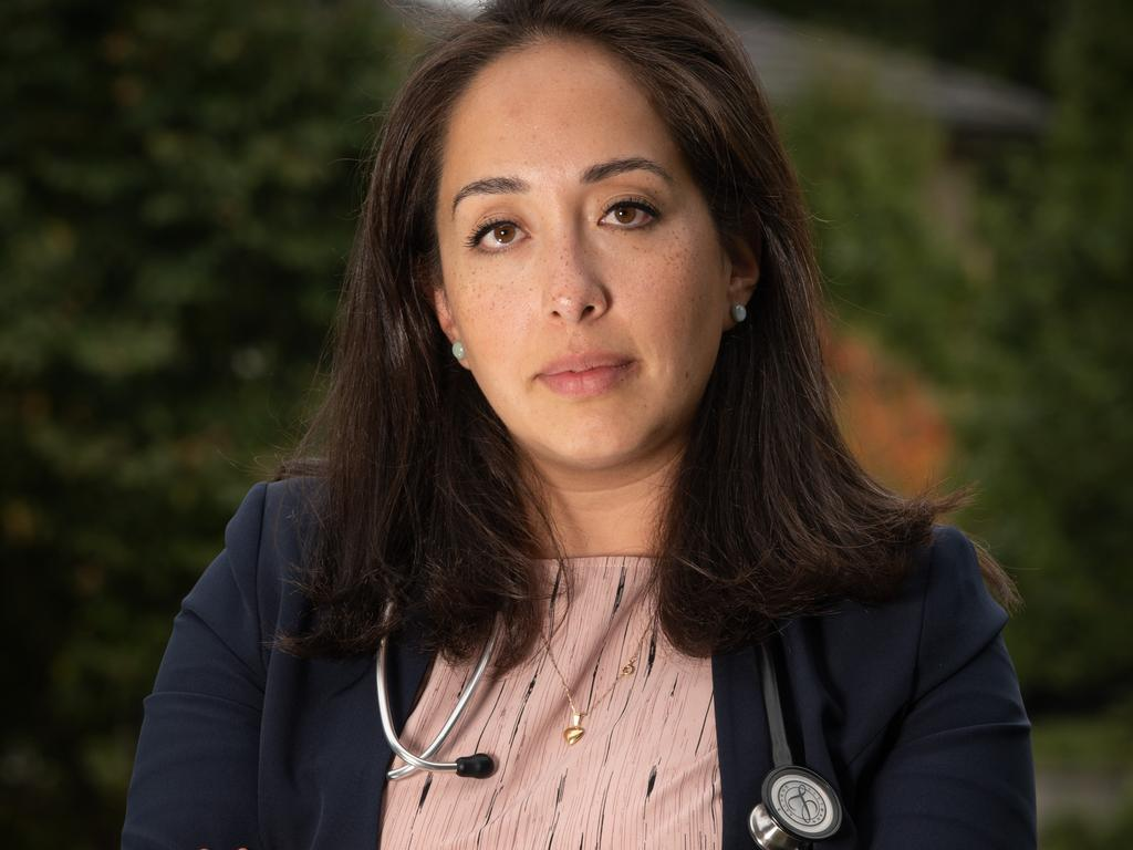 Dr Karla Villafana-Soto said the strength of the support for the legal action indicated just how determined the doctors were to resolve the 'systemic problems'. Picture: Tony Gough