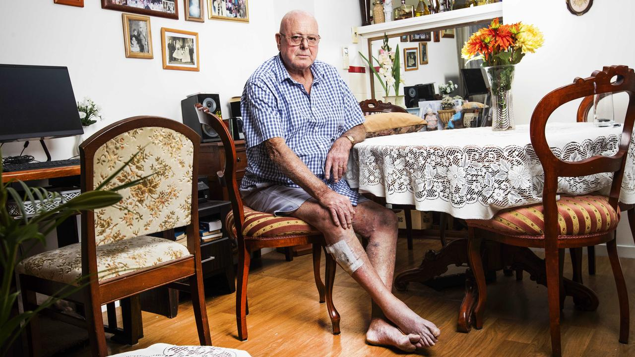 Allan Strip, 79, waited two hours for an ambulance to pick him up, and then spent another hour on the ambulance ramp. Picture: Nigel Hallett