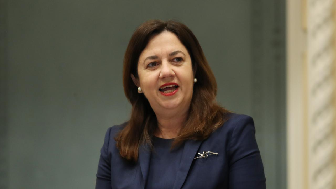 Premier Annastacia Palaszczuk speaking in Parliament. Pics Tara Croser.