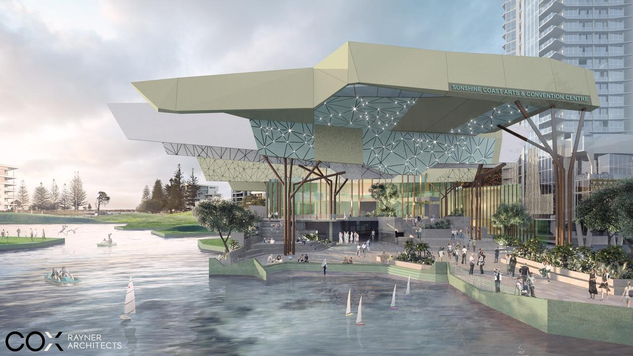 VISIONS: Some artist's impressions of how the new Sunshine Coast Arts, Convention, Exhibition and Entertainment Centre could look.