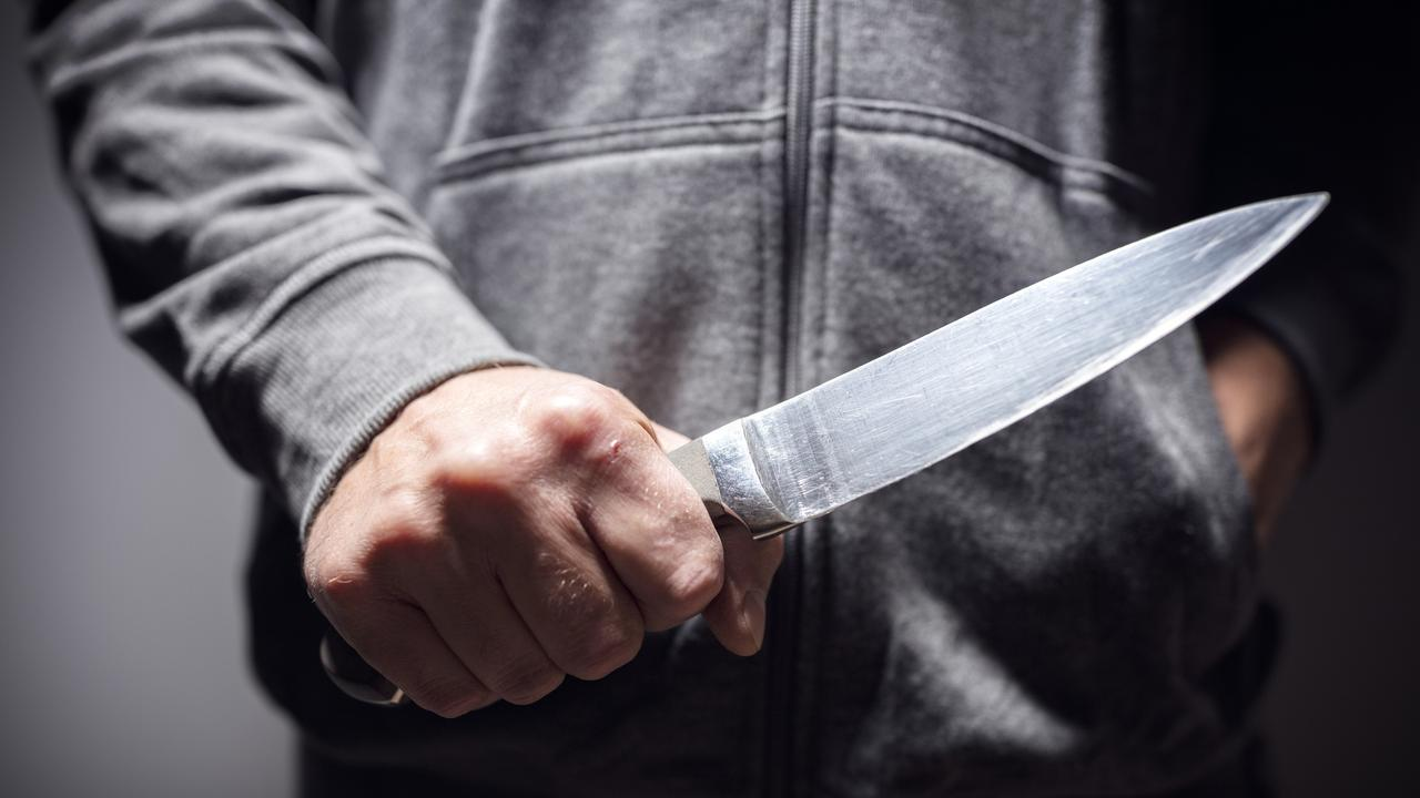 A man who stabbed his father so forcefully part of the knife embedded in his vertebrae has been sentenced.