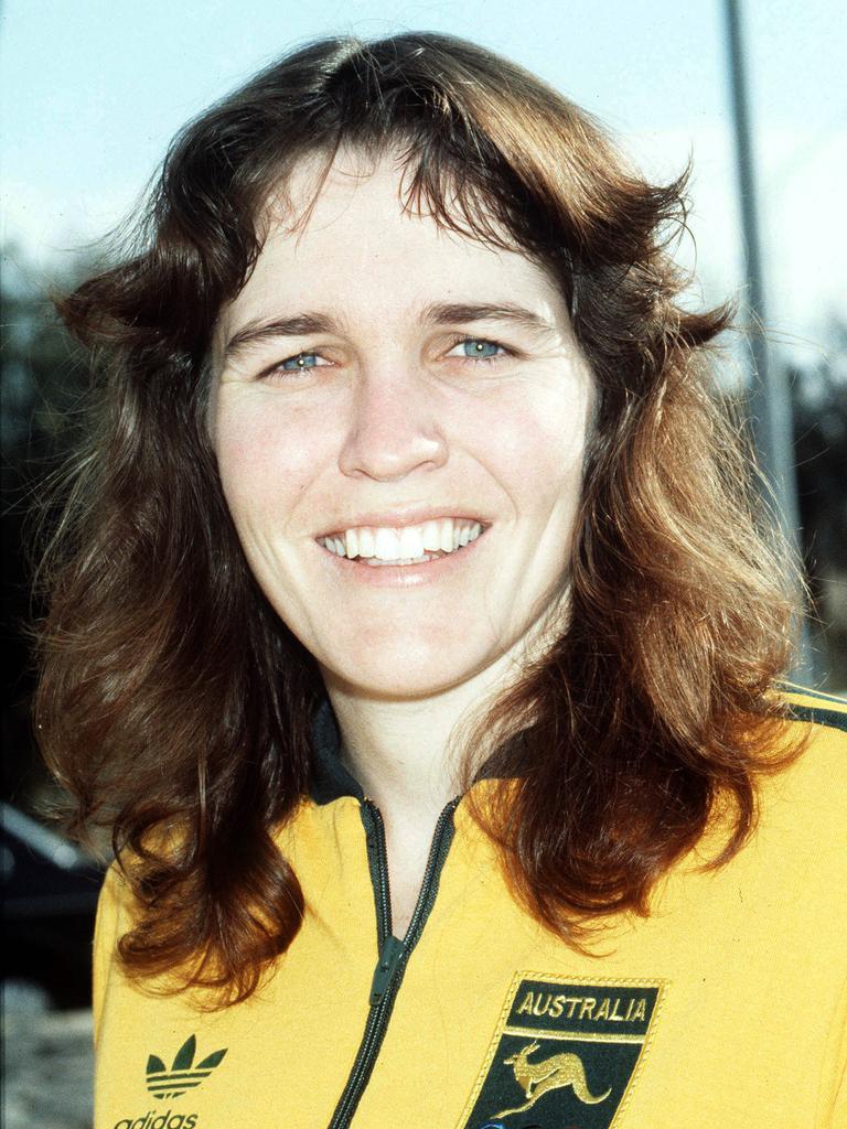 Donna Quinn ahead of the 1984 Olympics