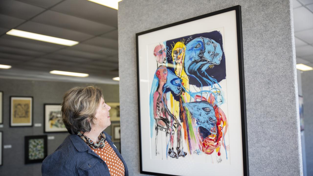 Local Mackay artist Jen Ward. Picture: Art on Show Awards