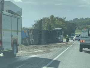 Mail spilled in Bruce Highway truck rollover