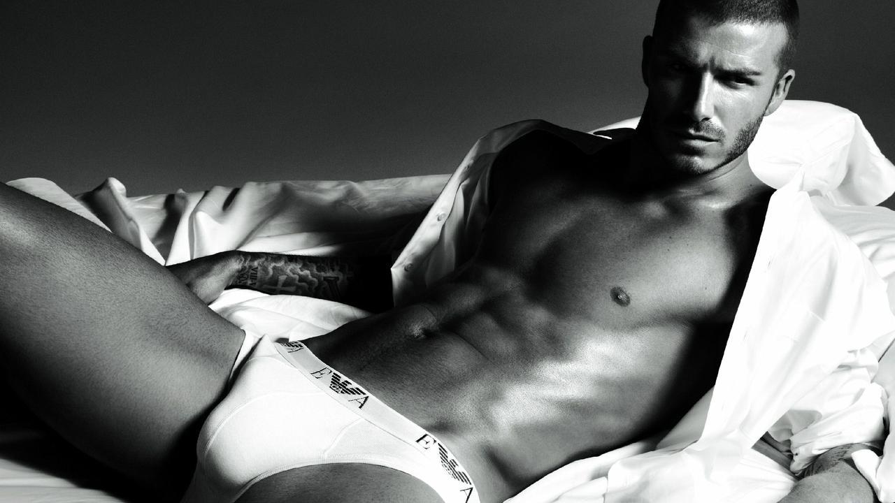 David Beckham in an Armani underwear advertisement.