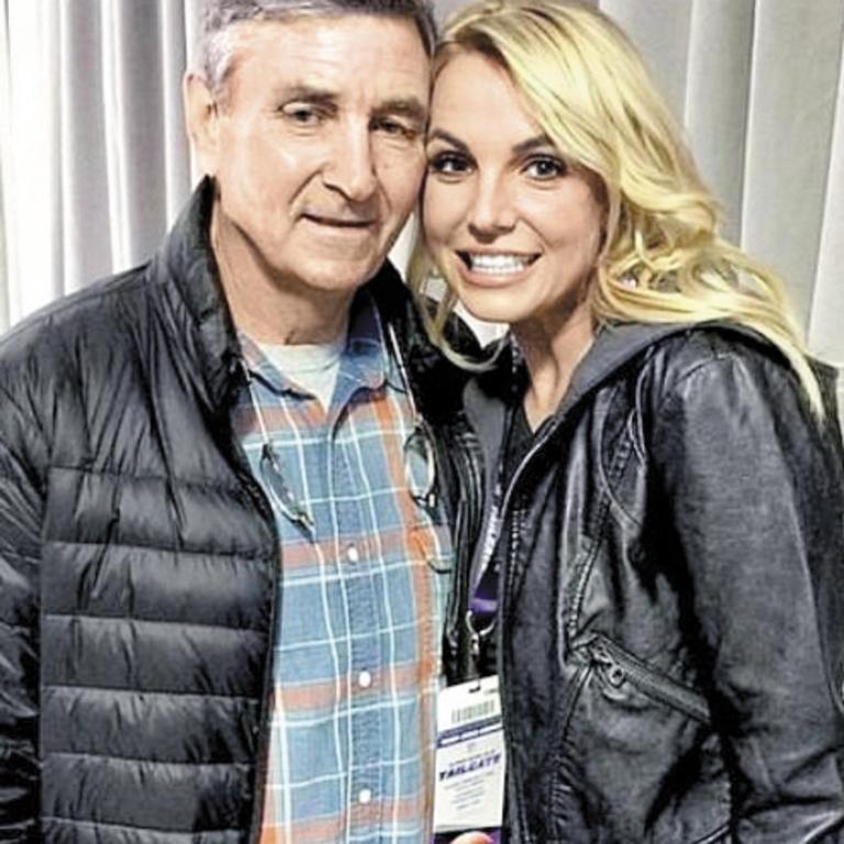 Britney with her dad Jamie.