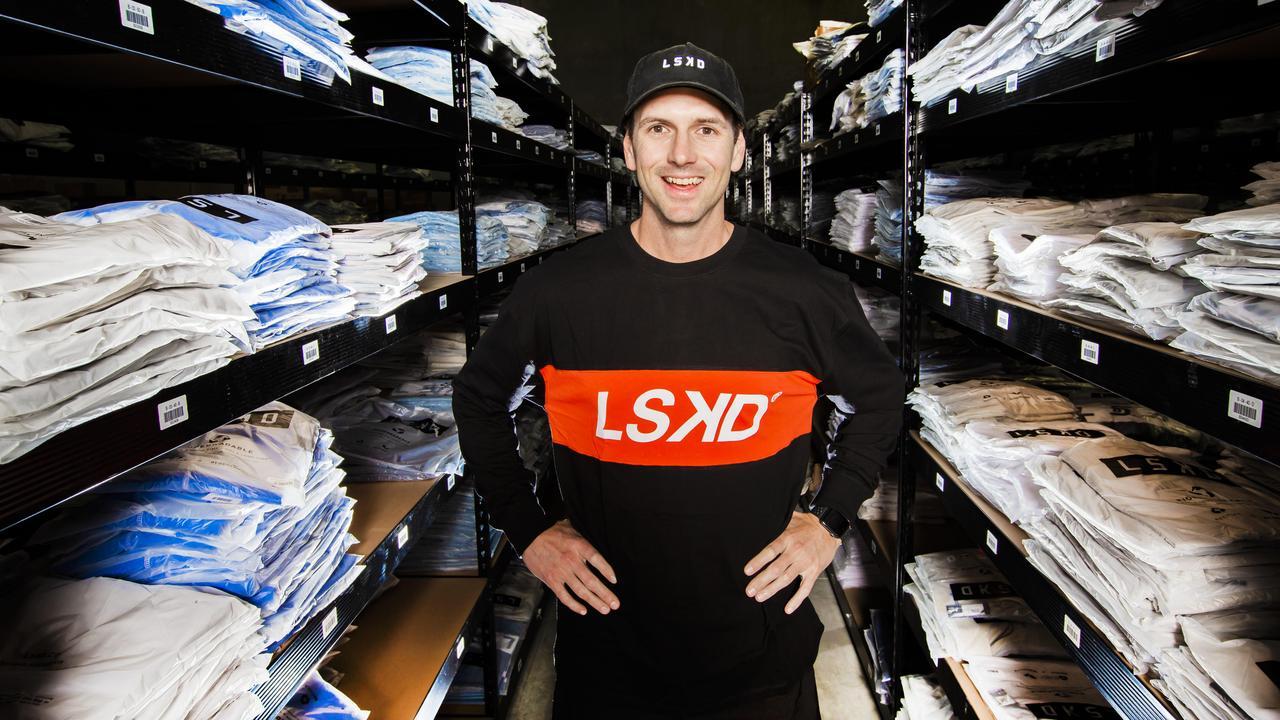 LSKD founder and chief executive Jason Daniel at his Yatala warehouse.
