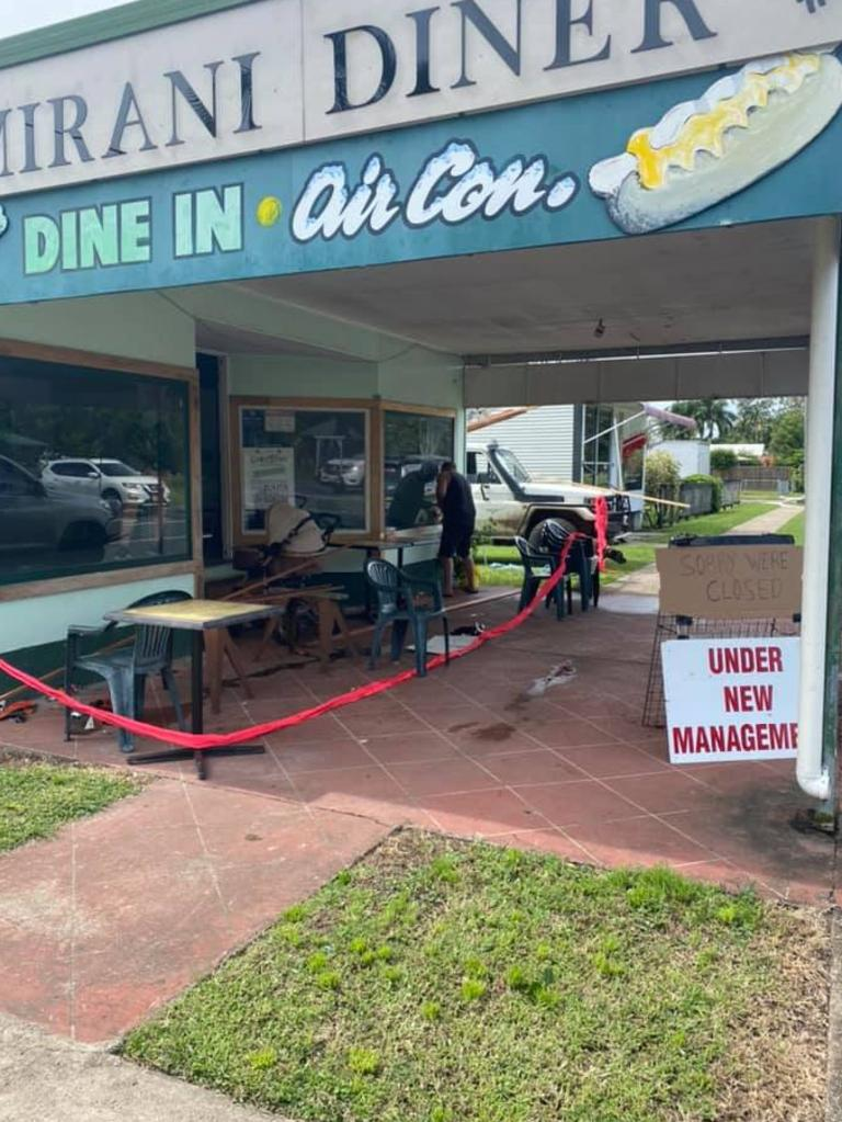The Pioneer Diner at Mirani is temporarily closed as it goes under new management. Picture: Tamae Austin, Facebook