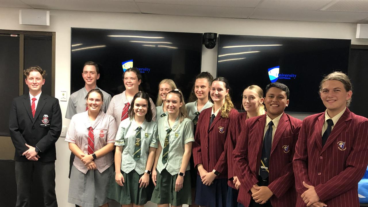 Whitsunday Anglican School in Mackay took out the CQUniversity School Business Challenge for the Central Queensland Region round. Pictured are some of the contestants from Mackay. Picture: CQUniversity