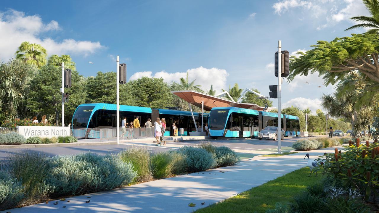 Mass transit options imagined at Warana North.