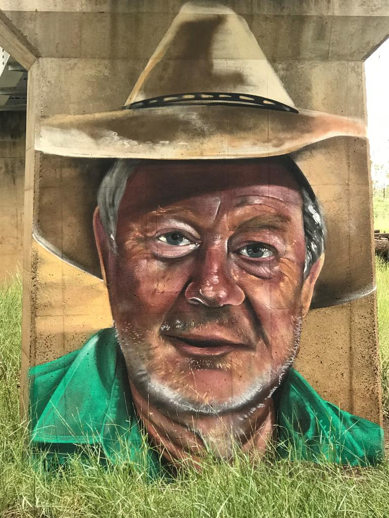 Pom (Gary Petrie), another mural painted in Thallon. PHOTO: Lila Brosnan