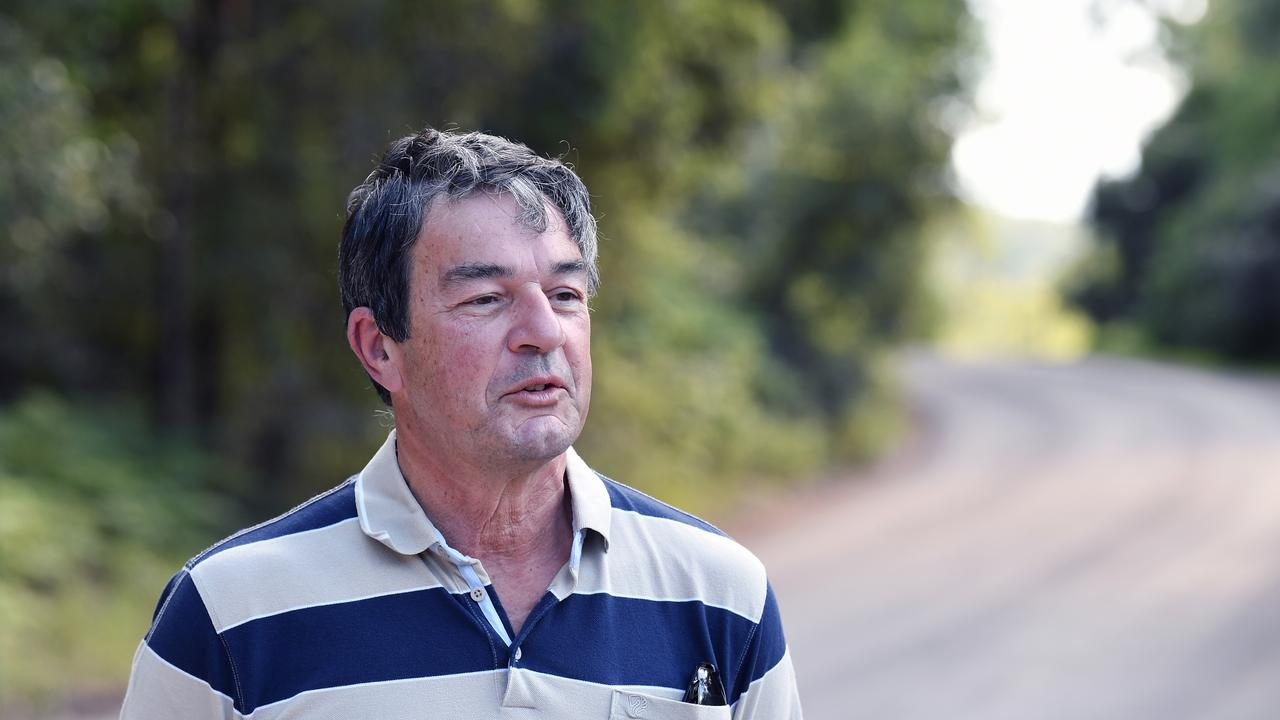Yandina Creek resident Angelo Reitano is thrilled the dirt road that leads to his property will be sealed after 30 years of campaigning to have the work done. Picture: Patrick Woods.