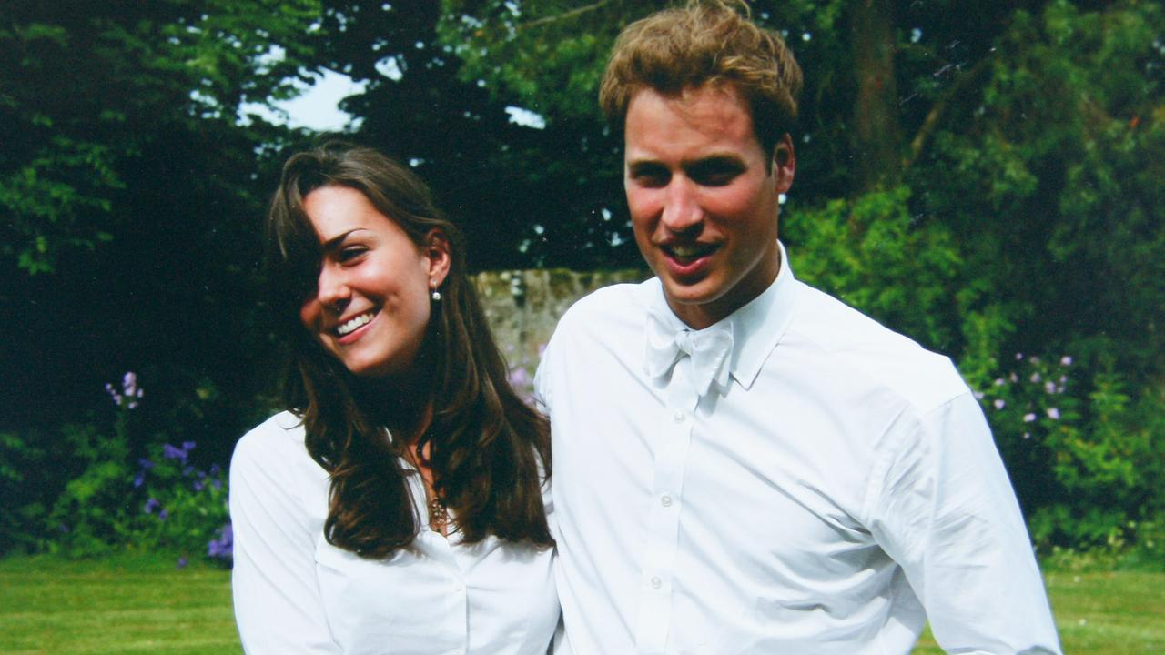 Kate Middleton and Prince William on the day of their graduation ceremony at St Andrew's University in 2005. Picture: Middleton Family/Clarence House via Getty