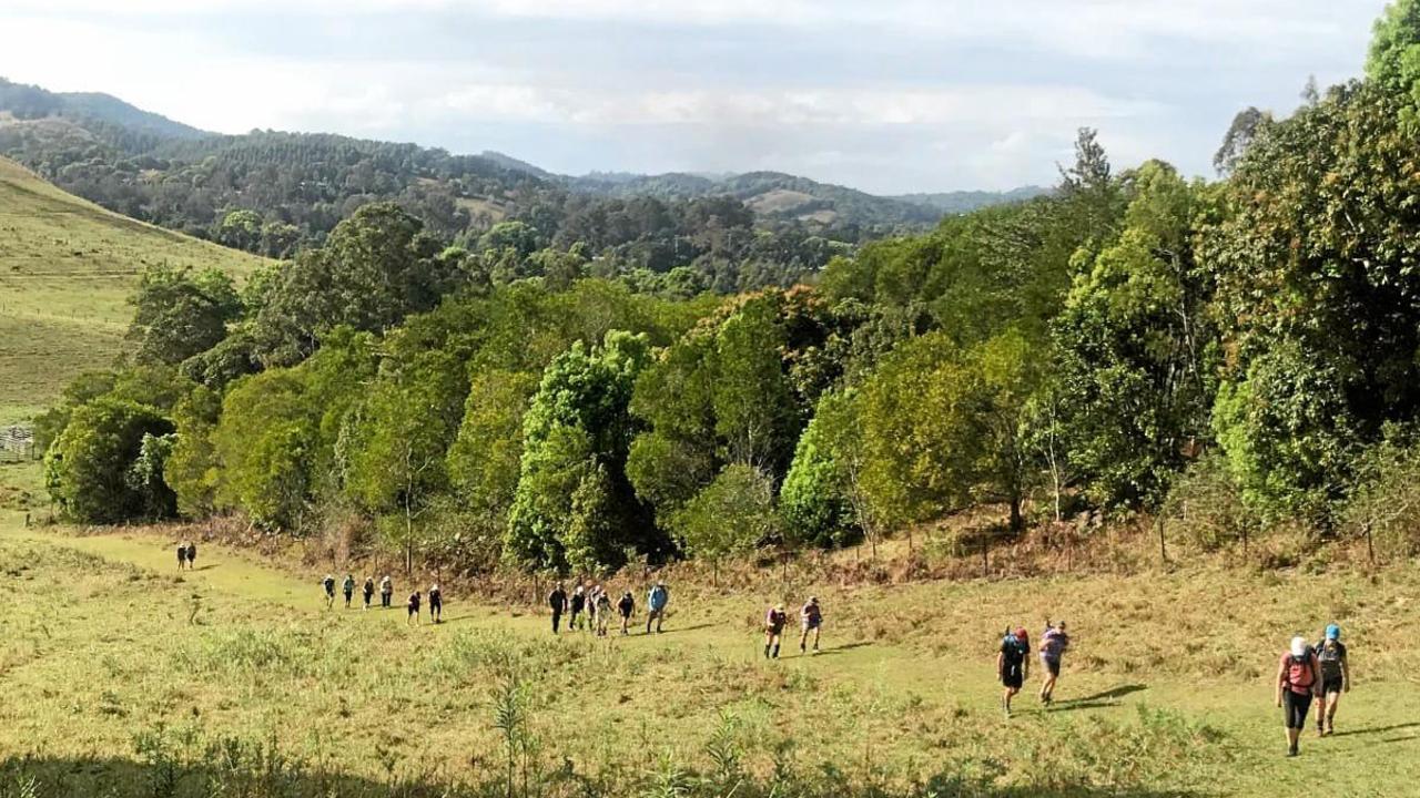 Making the great escape – a procession of Noosa walkers near Kin Kin.