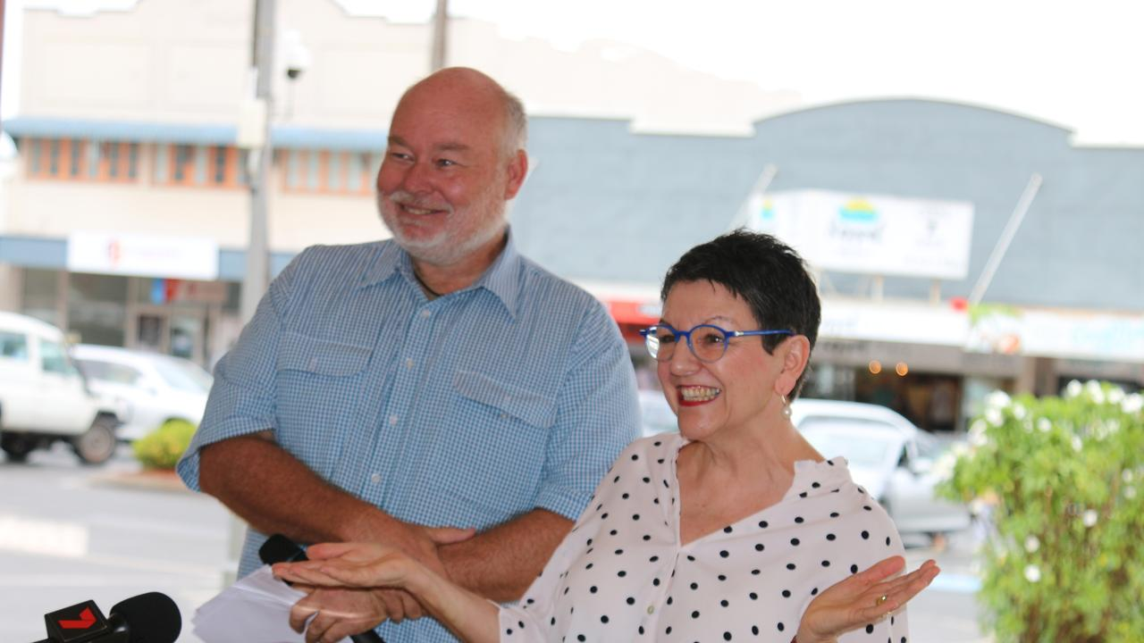 Capricorn Writers Festival Director, Nene Davies (right), and Livingstone Shire Councillor, Rhodes Watson (left), officially launched the Capricorn Coast Writers Festival today. PIC: Contributed