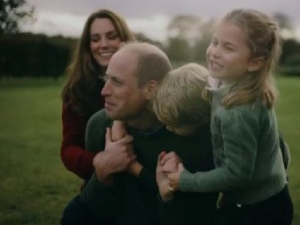 Kate Middleton, Prince William, Prince George and Princess Charlotte at home. Picture: Twitter