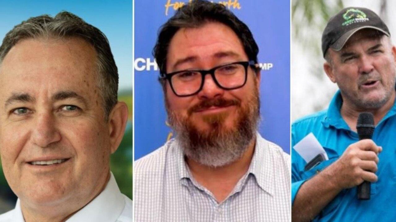 Left to right: Chris Bonanno, Dawson MP George Christensen and Mackay councillor Marty Bella