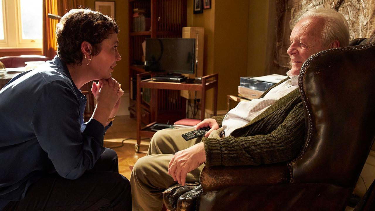 Olivia Colman and Anthony Hopkins in The Father.