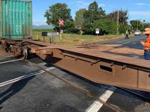 LUCKY MAN: Landcruiser a write-off after train collision