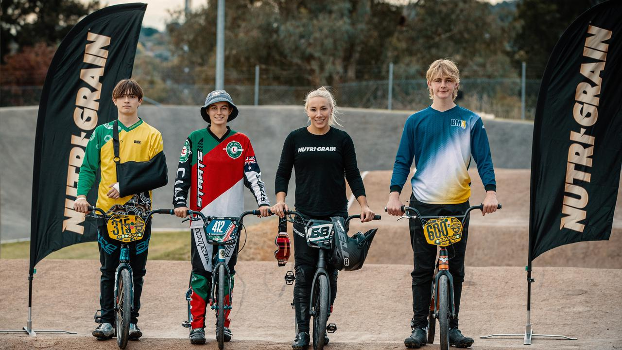 Caroline Buchanan is mentoring Australia's next generation of BMX riders.