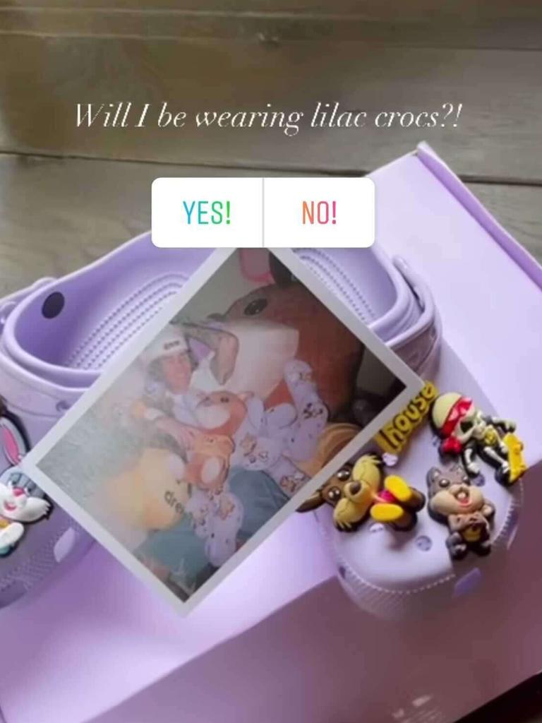 Posh asked her fans if they thought she would wear the crocs. Picture: Instagram